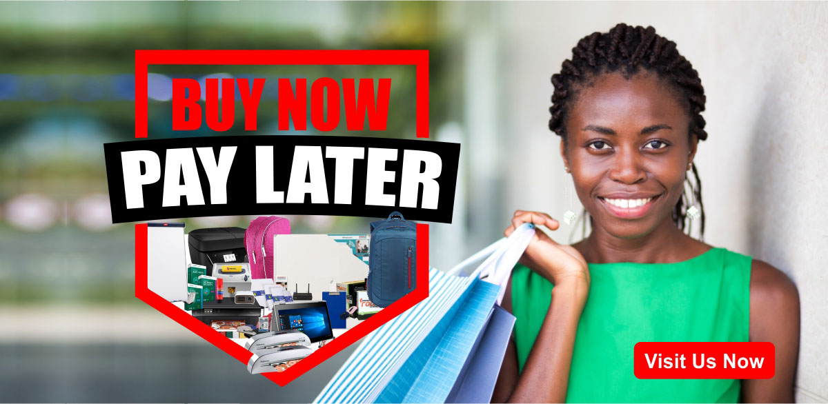 Buy Now Pay Later - Office Everything Store Pick Up and HP Partner Logo